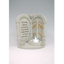 Gates To Heaven With Flickering tealight