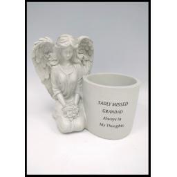 Large Angel Memorial Plant Pot Vase