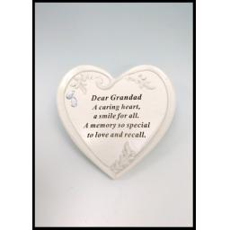 Memorial Graveside Ornament Diamante Heart Plaque