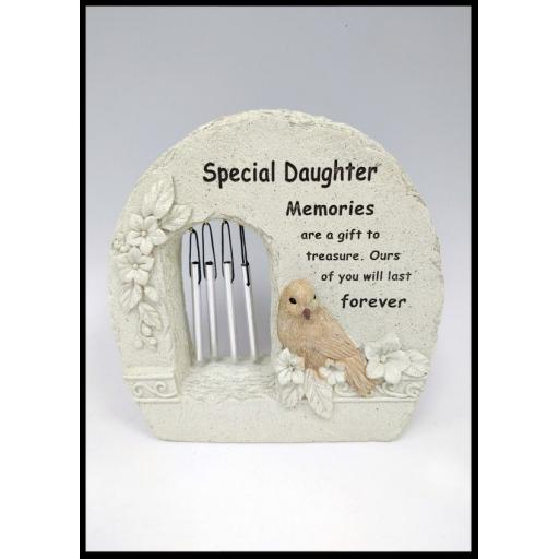 Special Windchime Grave Memorial Remembrance Plaque Ornament