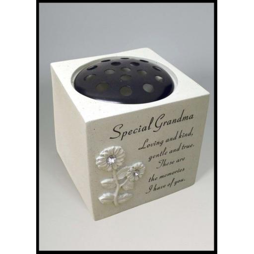 Special Diamante Sunflower Rose Bowl Memorial Grave Ornament