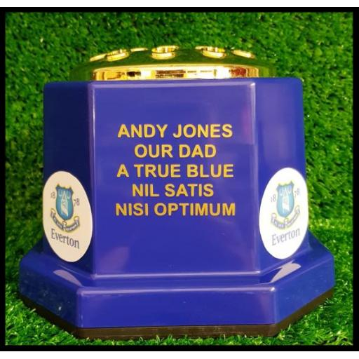 Personalised hexagon flower pots BLUE