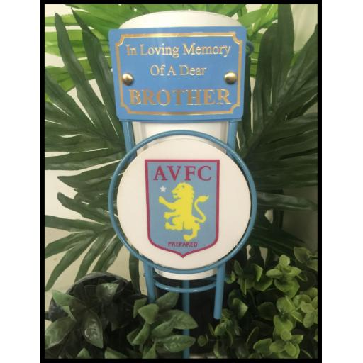 Aston villa football metal pot
