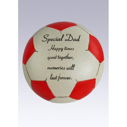 Special Graveside Memorial Football Grave Decoration Garden Ornament Red
