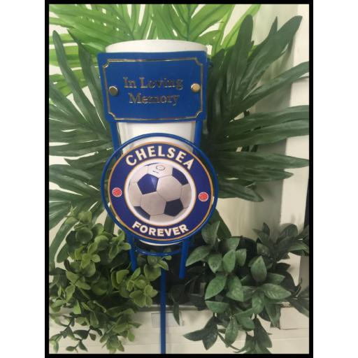 chelsea football metal flower pot