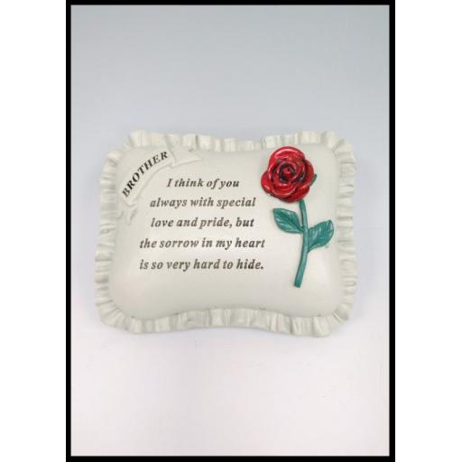 Large Red Rose Memorial Pillow