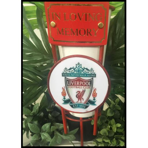 Liverpool Football metal flower pot